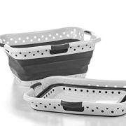 Pop & Load Collapse & Store Large HipHolder 3 Handles laundry-baskets, GREY ONYX