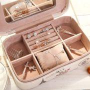 Korean Style Make Up Organizer,Large Capacity Leather Storage Box,Organizador De Maquillaje,Cosmetic Organizer,Jewelry Container