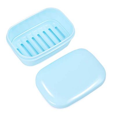 Travel Soap Box Drain Lid Soap Holder
