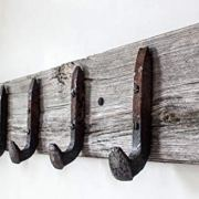 Vintage Rustic Coat Rack -Authentic Barn Wood Hanger Rack for Towels