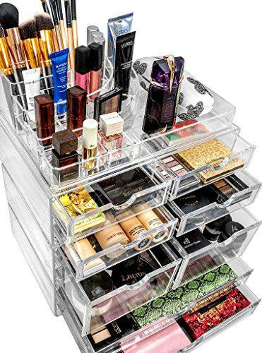 Sorbus Organiser Acrylic Cosmetics Jewelry Storage Case
