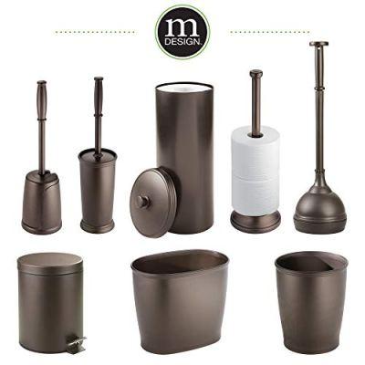 mDesign MetroDecor Toilet Bowl Brush, Plunger/Toilet Paper Holder