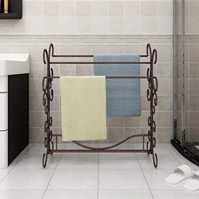JURMERRY Towel Rack Bathroom Stand Rack 3-Tier for Indoor and Outdoor