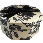 Foster-Stephens, inc Colorful Hat Box - Medusa Black & White