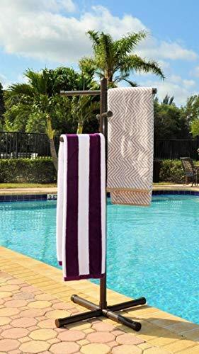 Jamlyn Pool & Spa Towel Rack Bronze Premium Extra Tall
