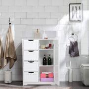 Yaheetech Wooden Bathroom Floor Cabinet, Side Storage Organizer Cabinet
