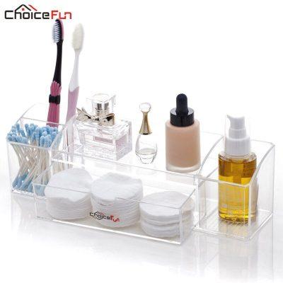 CHOICEFUN Rectangle Acrylic Desktop Cosmetic Organizador De Maquiagem