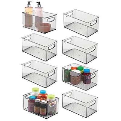 mDesign Deep Plastic Storage Bin with Handles for Organizing Hand Soaps