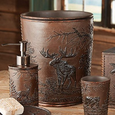 Black Forest Décor Forest Wildlife Rustic Waste Basket