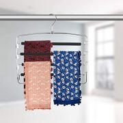 Sunblo Clothes Pants Hangers 2 Pack, Multi Layers Metal Pant Slack Hangers