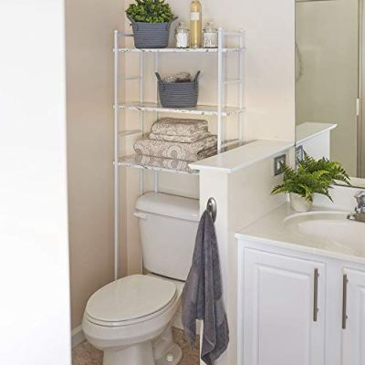 Household Essentials Over The Toilet Space Saving Metal Shelves for Bathroom
