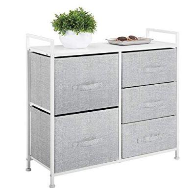 mDesign Wide Dresser Storage Tower - Sturdy Steel Frame