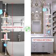 uxcell Constant Tension Corner Shower Caddies Rack Shelf