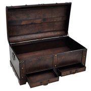 vidaXL Large Wood Treasure Drawer Blanket Storage Chest Vintage