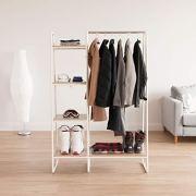 IRIS Metal Garment Rack with Wood Shelves