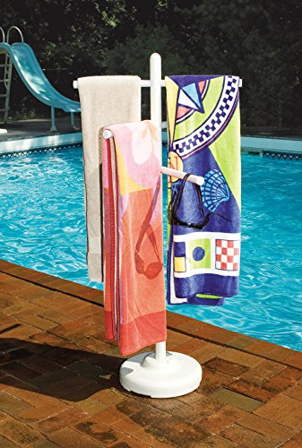 Hydrotools Indoor Outdoor Swimming Pool Weighted Poolside Towel Rack