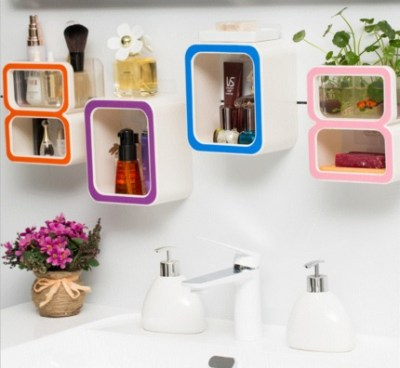 Creative Number 9/ 8 /0 Storage Soap Rack Plastic Boxes Suction