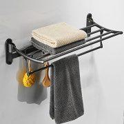 BESy Oil Rubbed Bronze Towel Racks, Bathroom Towel Shelf