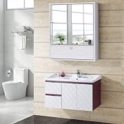 Tangkula Bathroom Cabinet Double Mirror Doors Wall-Mounted Storage