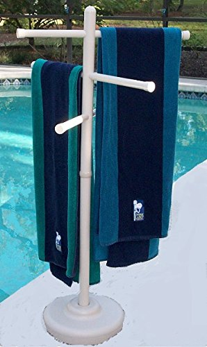"Comes within the colours white, bone, or the brand new metallic bronze Moveable outside towel rack It stands 50"" tall and has (3) 24"" adjustable crossbars This towel rack is made from furnishings grade plastic, so it won't rust, crack, discolor, or rot like the opposite towel racks"