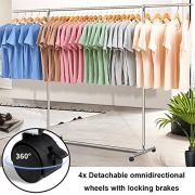Reliancer Heavy Duty Large Garment Rack Stainless Steel Clothes Drying Rack