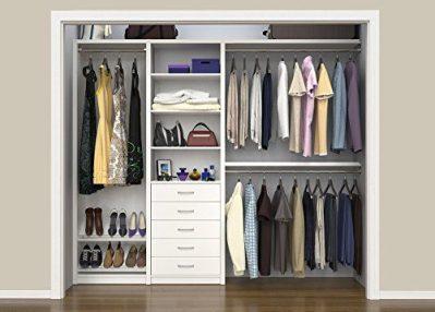 "ClosetMaid SpaceCreations 64"" - 99"" Wood Closet Organizer Kit"