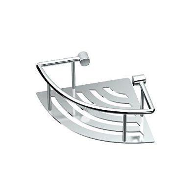 "Gatco Elegant Corner Shelf, 8"", Chrome"