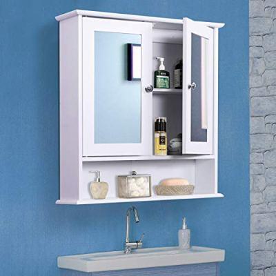 kleankin Bathroom Storage Cabinet Wall Mounted Medicine Cabinets