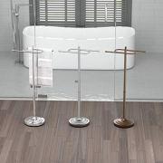 Gatco Floor Standing S Style Towel Holder, Satin Nickel