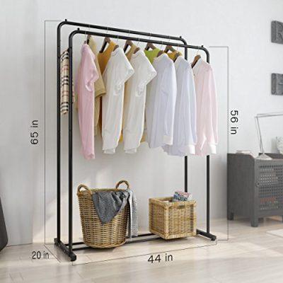 Rackaphile Clothes Rack, Clothes Organizer, Adjustable Double Rails