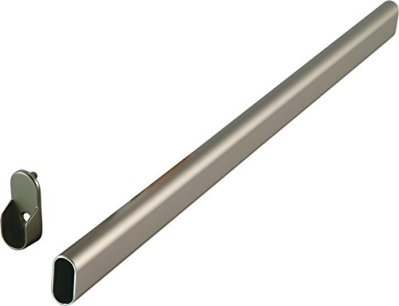 Oval Closet Rod with End Supports - 30in