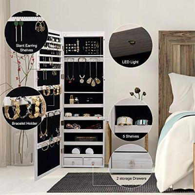 Titan Mall Jewelry Organizer 6 LEDs Jewelry Cabinet
