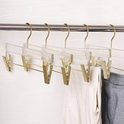 Acrylic Hanger for Clothes with Gold Hook with Rose Gold
