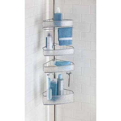 InterDesign Rain Metal Shower Adjustable and Expandable Tension Shower Bath
