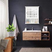 Yaheetech Mirrored Bathroom Wall Storage Cabinet