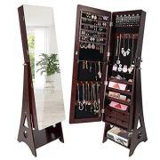 SUNCOM 6 LED Jewelry Cabinet, Full Length Mirror Standing Jewelry