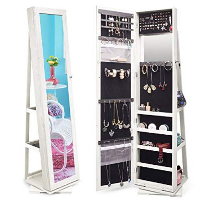 TWING Jewelry Organizer Jewelry Cabinet 360 Rotating