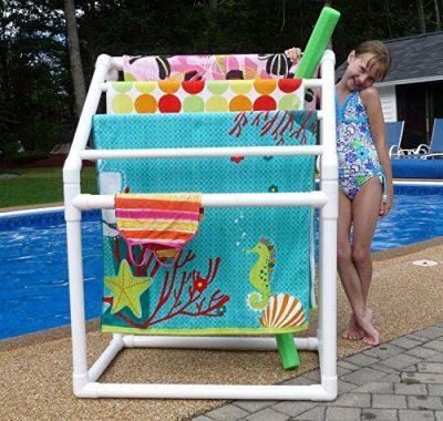 TowelMaid 5 Bar Freestanding Outdoor Poolside Towel Rack