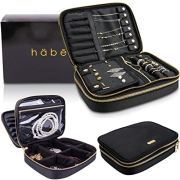 häbe Travel Jewelry Organizer Case, Tangle-Free, Space-Saving, Compact