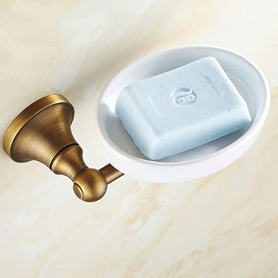 LANA soap dish Holder Wall Mounted Antique Brushed Copper Soap Saver Tray