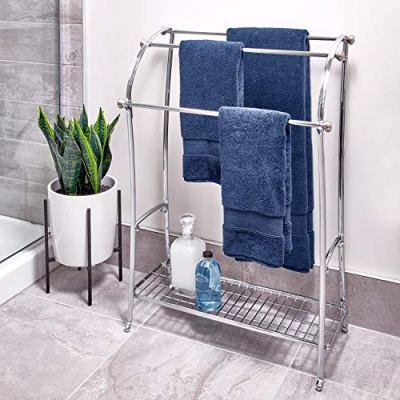 InterDesign York Metal Free-Standing Towel Drying Rack