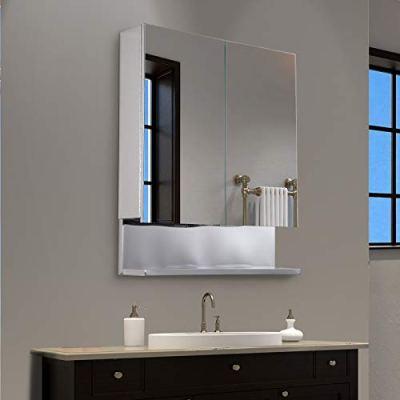 "kleankin 24"" x 28"" Stainless Steel Wall Mount Bathroom Medicine Cabinet"