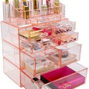 Sorbus Acrylic Cosmetics Makeup and Jewelry Storage Case