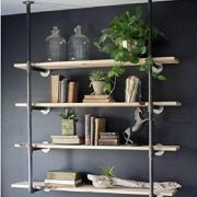 Industrial Retro Wall Mount Iron Pipe Shelf Hung Bracket Diy Storage