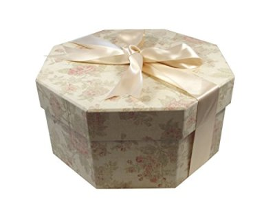 Foster-Stephens, inc Colorful Hat Box - Antique Pink