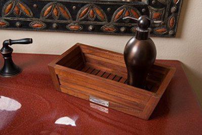 AquaTeak The Original Moa Teak Bathroom Guest Towel & Amenities Tray