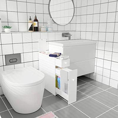 Tangkula Bathroom Cabinet, Wooden Bathroom Storage Cabinet