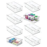 mDesign Stackable Plastic Storage Organizer Container Bin