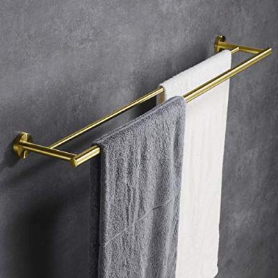 Hoooh Double Bath Towel Bar 36-Inch Stainless Steel Hand Towel Rack