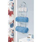 mDesign Wall Mount Metal Wire Towel Storage Shelf Organizer